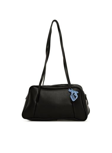 Bagmori  Kadın Askı Dikişli Yatay çanta M000005976 Siyah